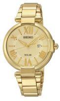 Seiko Ladies Goldtone Stainless Steel Solar Watch