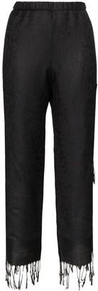 Collina Strada jacquard tassel cropped trousers