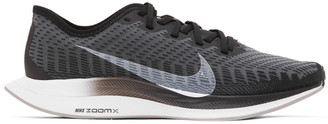 Nike Grey and Black Zoom Pegasus Turbo 2 Sneakers