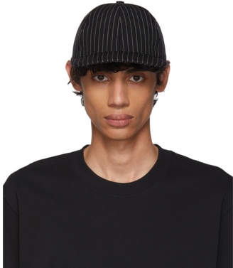Ami Alexandre Mattiussi Black and White Stripe Cap
