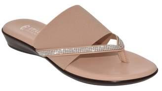 Italian Shoemakers Luxi Embellished Strap Wedge Sandal