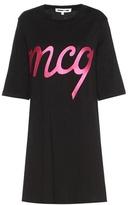 McQ by Alexander McQueen Embroidered Cotton T-shirt Dress