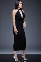 Jovani Sleeveless with Plunging Neckline Tea Length Dress M523