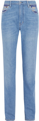 Acne Studios South Printed High-rise Straight-leg Jeans