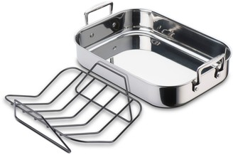 Le Creuset 3-Ply Stainless Steel 35cm Roaster & Non-Stick Rack