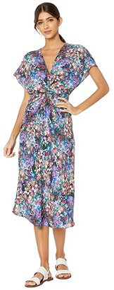 Prabal Gurung Floral Cady Jackie Dress (Black Multi) Women's Clothing