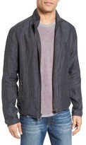 John Varvatos Men's Zip Front Linen Jacket