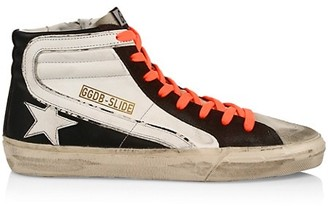 Golden Goose Men's Slide High-Top Leather Sneakers
