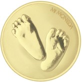 Mi Moneda Baby Feet & Te Quiero gold-plated coin - small