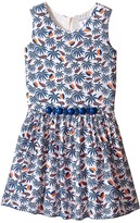 Little Marc Jacobs Twill Viscose Lined Dress All Over Printed (Little Kids/Big Kids)