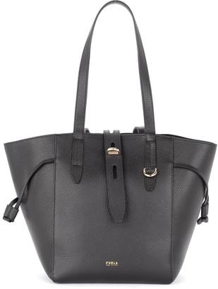 Furla Shoulder Bag Net Model In Black Grained Leather