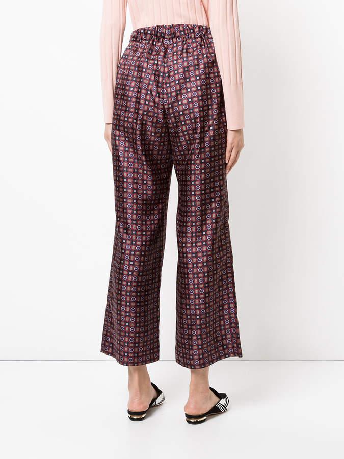 ASTRAET tile print trousers