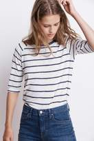 Kenia Stripe Textured Knit Raglan Tee