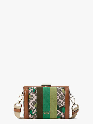 Kate Spade Spade Flower Jacquard Bijou Cherry Tricolor Stripe Medium Crossbody