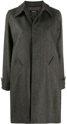 A.P.C. Concealed Front Coat