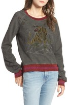 Pam & Gela Women's Embroidered Split Back Sweatshirt