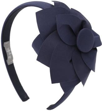 Il Gufo Cotton Headband W/ Flower Applique