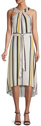 Ava & Aiden Striped Halterneck Dress