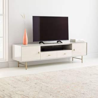 "west elm Modernist Wood & Lacquer Media Console (80"") - Winter Wood"
