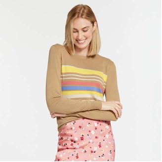 Joe Fresh Women's Crew Neck Sweater, Light Gold (Size M)