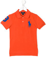 Ralph Lauren logo embroidered polo shirt - kids - Cotton - 10 yrs