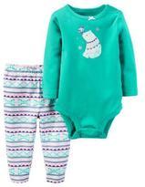 Carter's Girls' 'Polar Bear' 2-Piece Bodysuit & Pant Set