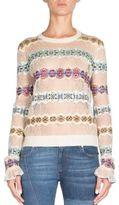 Alexander McQueen Fair Isle Crewneck Sweater