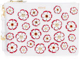 Moschino floral embroidered clutch