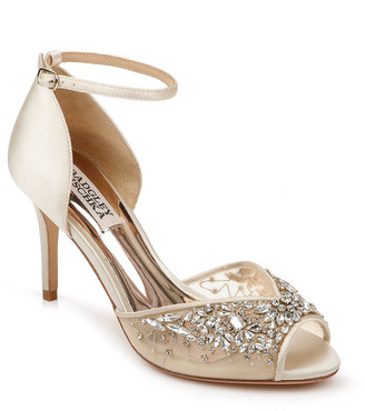 Badgley Mischka Opera Embellished Ankle Sandals