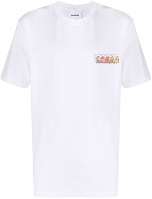 Soulland Rossell floral-print T-shirt