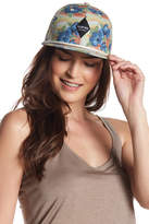 San Diego Hat Company Tropical Print Flat Bill Cap