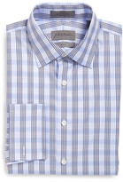 John W. Nordstrom Long Sleeve Trim Fit Non-Iron Plaid Dress Shirt