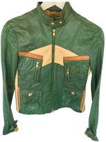 Fay Green Leather Leather Jacket for Women