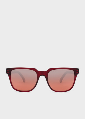 Paul Smith Red Flash 'Aubrey' Sunglasses
