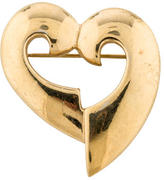 Givenchy Cutout Heart Brooch