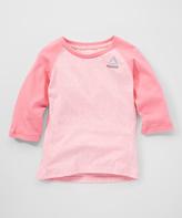 Reebok Azalea Pink Three-Quarter Scoop Neck Tee - Girls
