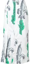 Julien David mid-length skirt - women - Cotton - L