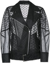 Le Ciel Bleu oversized lace jacket - women - Polyester - 36