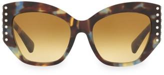 Valentino 54MM Embellished Cat Eye Sunglasses
