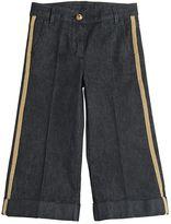 Moncler Stretch Denim Jeans W/ Lurex Bands
