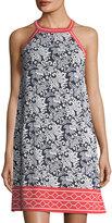 Max Studio Floral-Print Jersey Dress