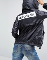 adidas Hooded Jacket With Monochrome Trefoil Logo Back