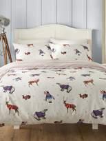 M&Co Brushed cotton jumper animals duvet set