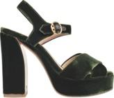 Tory Burch Loretta velvet platform sandal