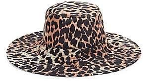 Ganni Women's Leopard-Print Bucket Hat