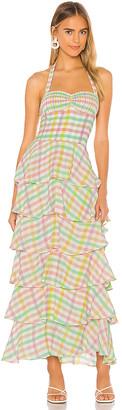 S/W/F SWF Ruffle Maxi Dress
