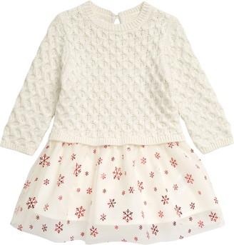 Hatley Metallic Snowflakes Holiday Sweater Dress
