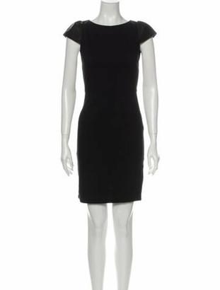 Alice + Olivia Bateau Neckline Mini Dress Black