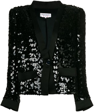 Yves Saint Laurent Pre Owned Sequinned Jacket