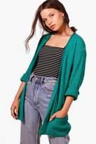 boohoo Amber Loose Knit Slouchy Pocket Cardigan